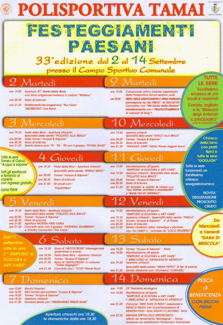 Programma Sagra 2014-15