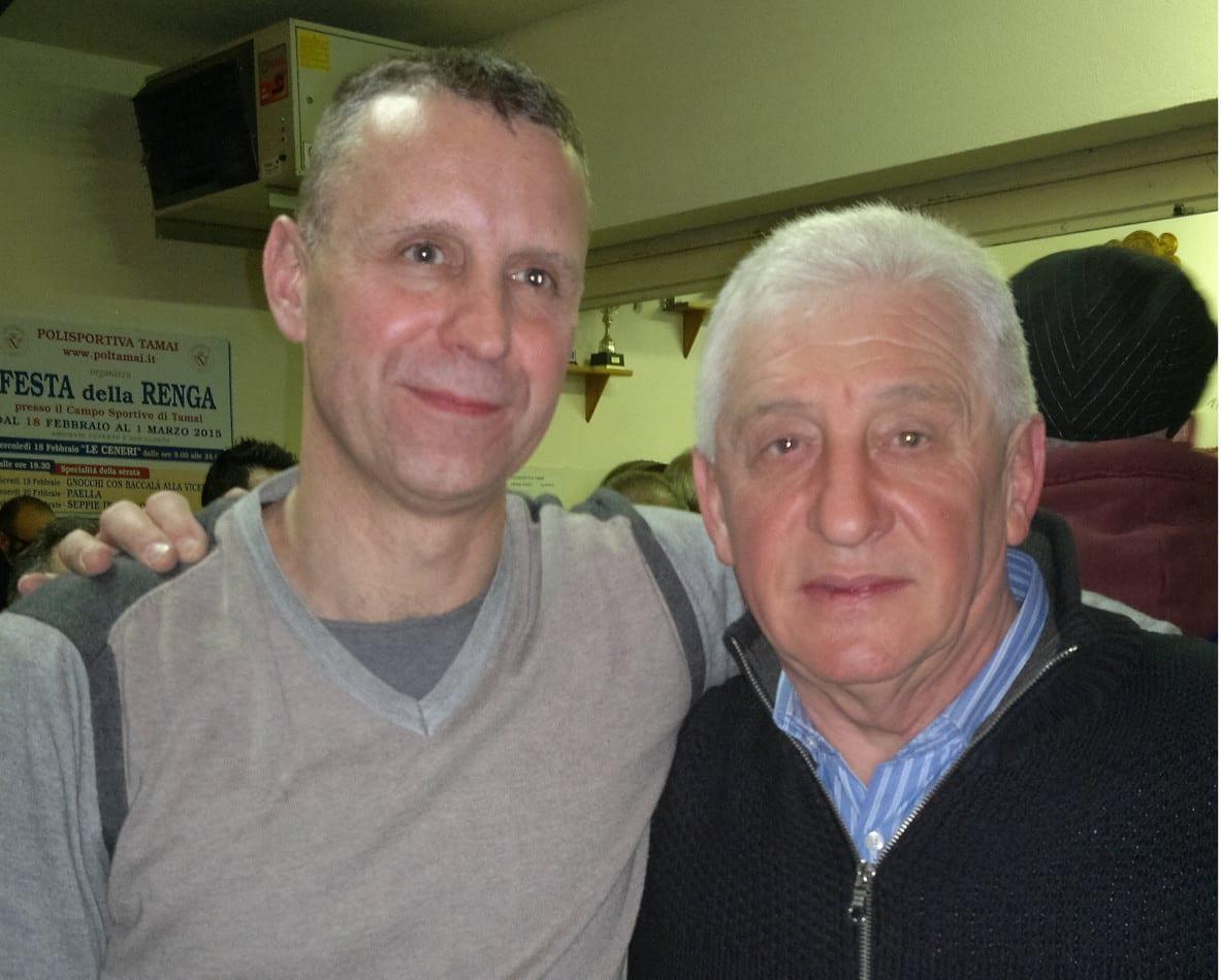Mauro Stella e il Presidente Elia Verardo