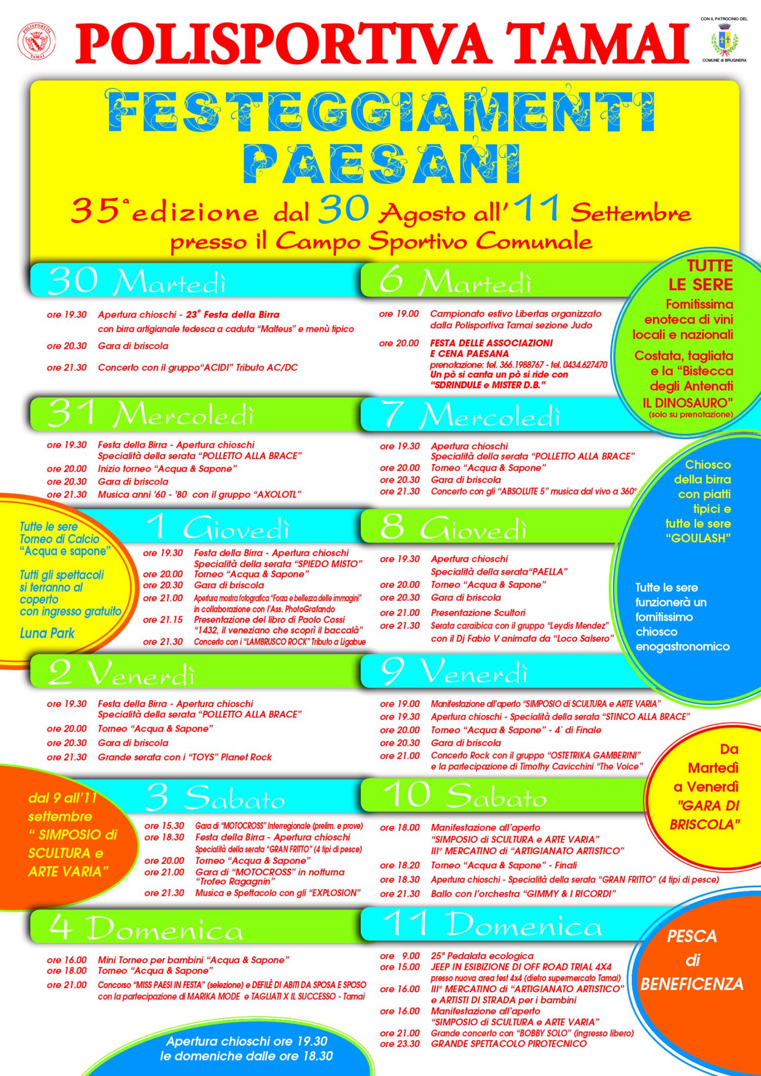Programma Sagra 2016