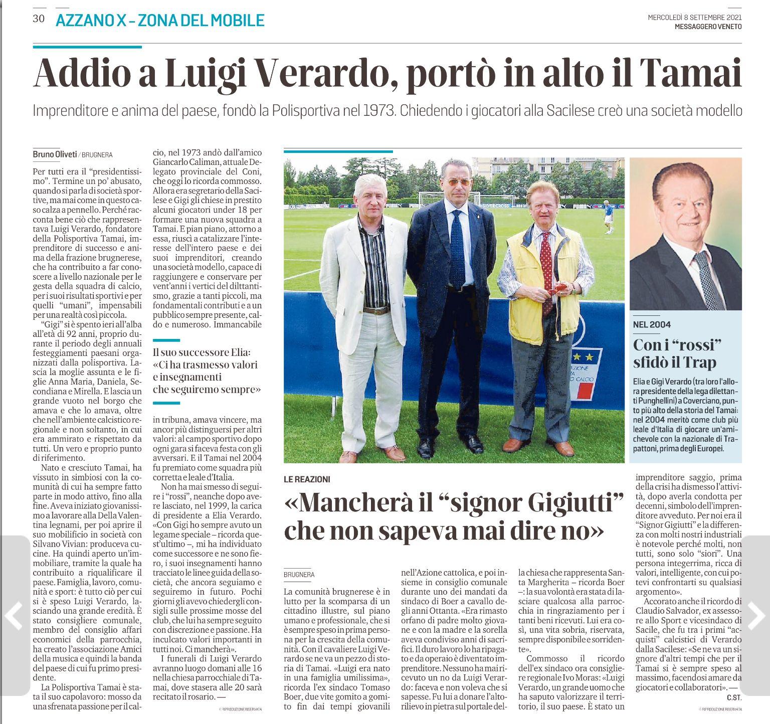 Luigi Verardo mess